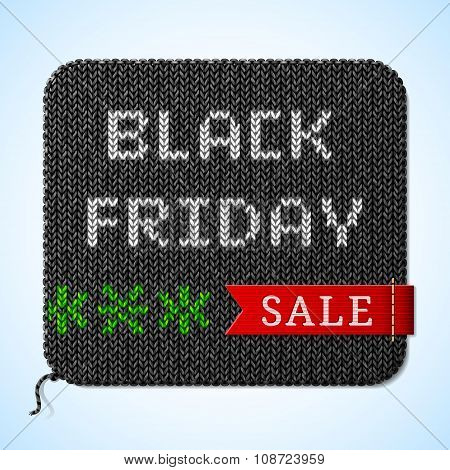 Black Friday Sale Title On Knitted Fabric