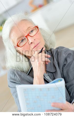 Old last doing a crossword