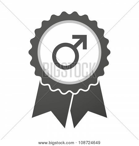 Vector Badge Icon With A Male Sign