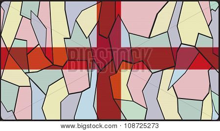 England Flag Stained Glass Window