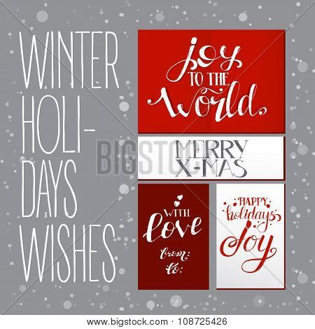 Bright Set With Xmas Wishes