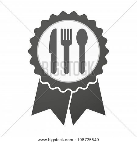 Vector Badge Icon With Cutlery