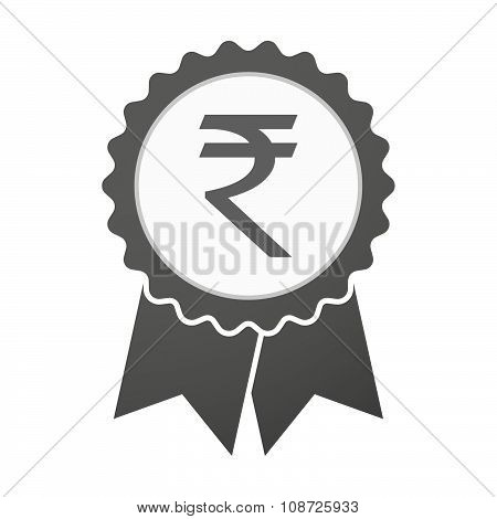 Vector Badge Icon With A Rupee Sign