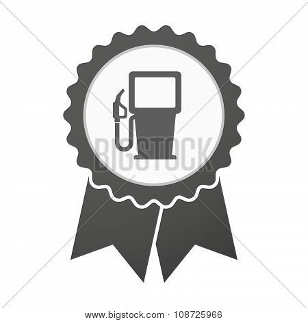 Vector Badge Icon With A Gas Station
