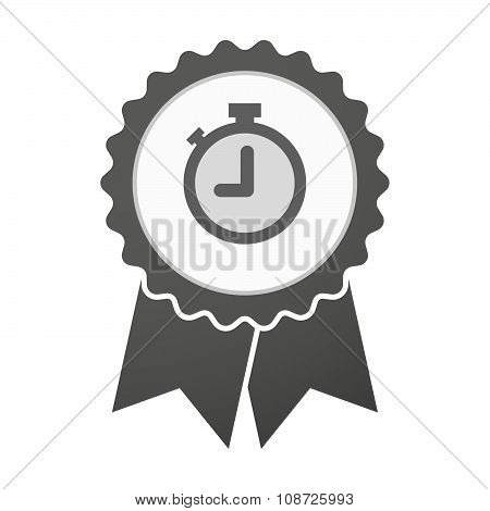 Vector Badge Icon With A Timer