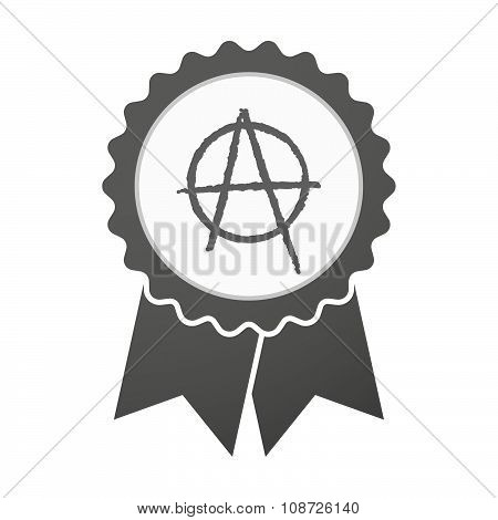 Vector Badge Icon With An Anarchy Sign