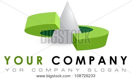 Logo template geometric shapes