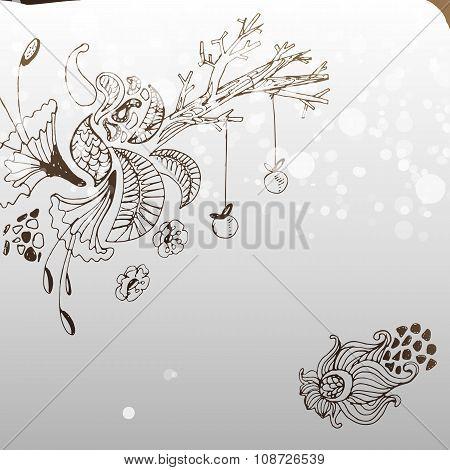 Magic Holiday Tree Illustration