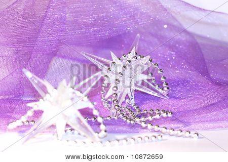 holiday stars on violet background