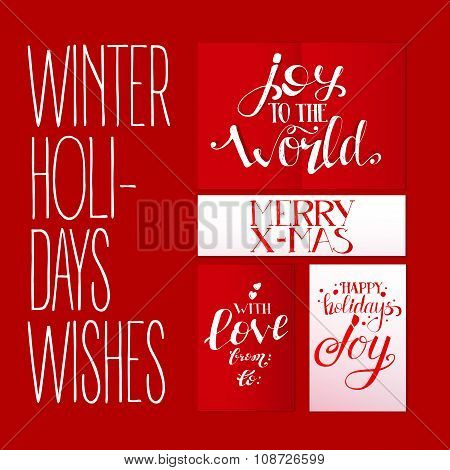 Red Set With Xmas Greetings