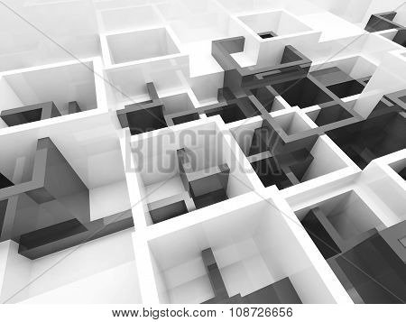 Abstract Design Background Black And White 3D