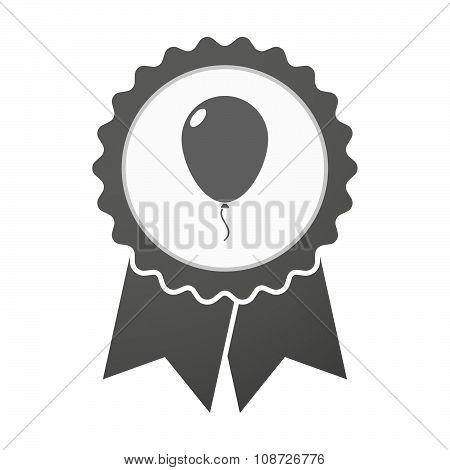 Vector Badge Icon With A Balloon
