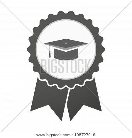 Vector Badge Icon With A Graduation Cap