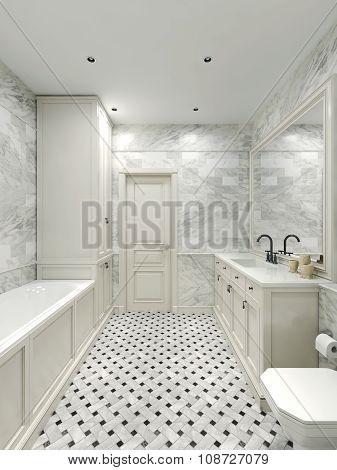 Bathroom Art Deco Style