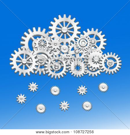 Mechanical gears cloud