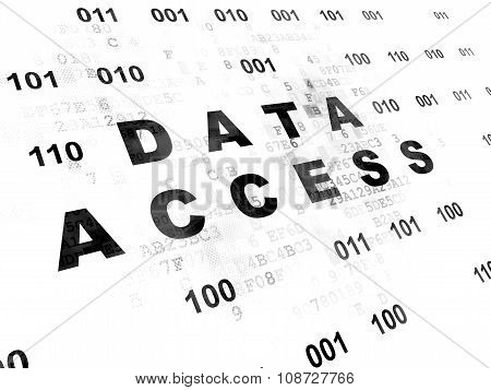 Information concept: Data Access on Digital background