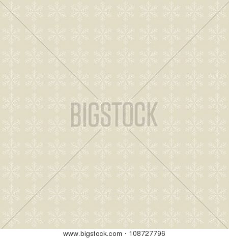 Grey Snowflakes Background  Pattern. Winter Theme.