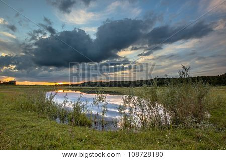 Dark River Landscape