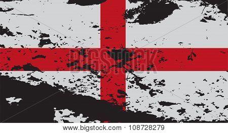 Grunged England Flag