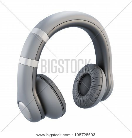 Headphones Isolated On White Background. 3D.