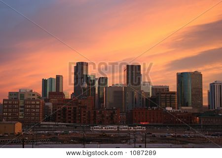 Downtown Denver At Sunset