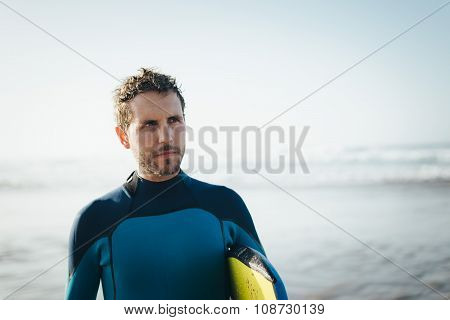 Surfer Beach Portrait