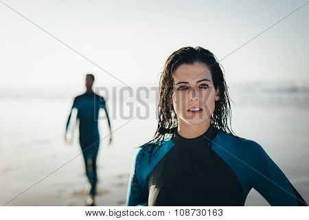 Surfing Woman Portrait
