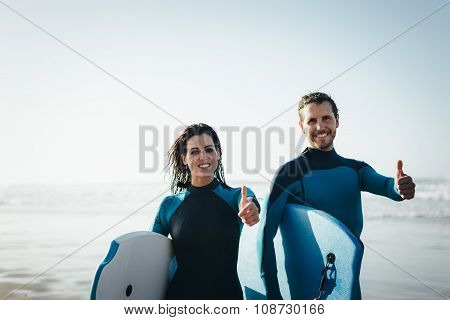 Successful Bodyboard Couple