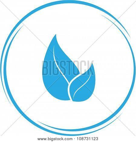 leaf. Internet button. Raster icon.