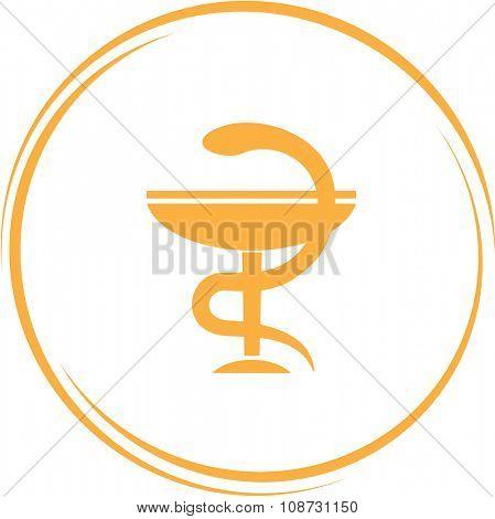 pharma symbol. Internet button. Raster icon.
