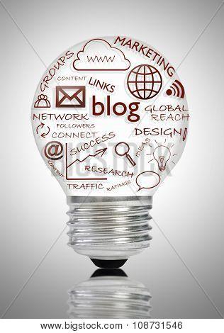 Blog Social Media Concept