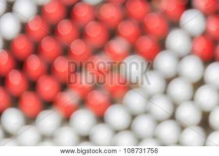 Blurred Photo Of Many Pattern Bottle Stoppers.