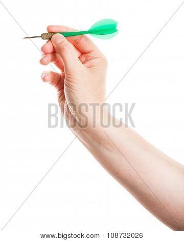 Female Hand Holding Dart