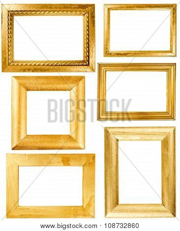 Collection Of Wooden Frames Painted Wirh Gold