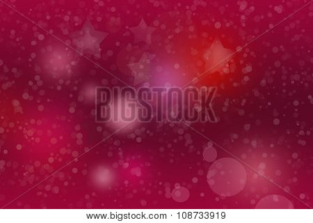 Bright marsala background with white snowflakes border on right side