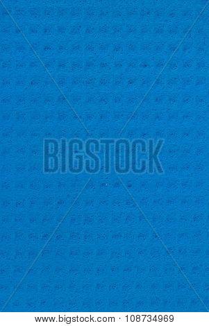 Blue cellulose sponge