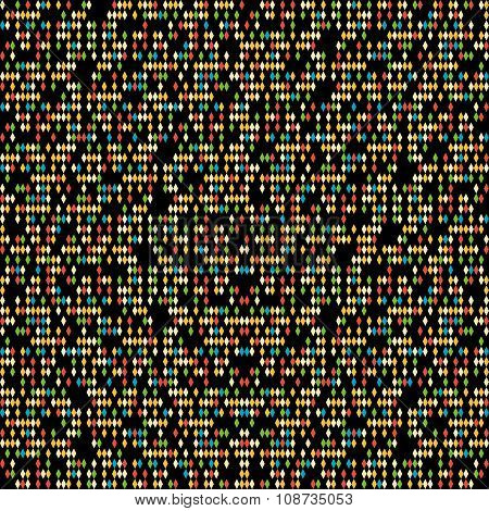 Scattering of tiny rhombes. Seamless pattern.