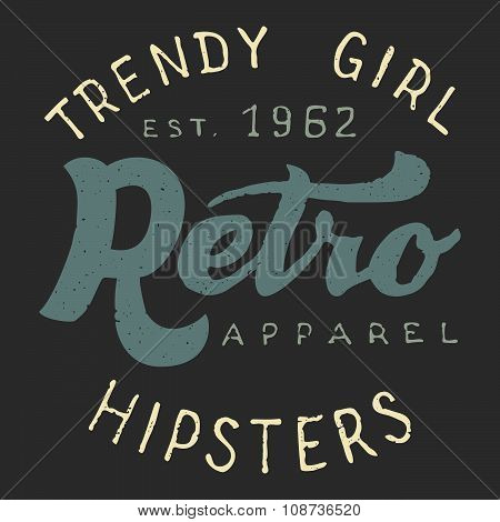 Retro Trendy Girl Label