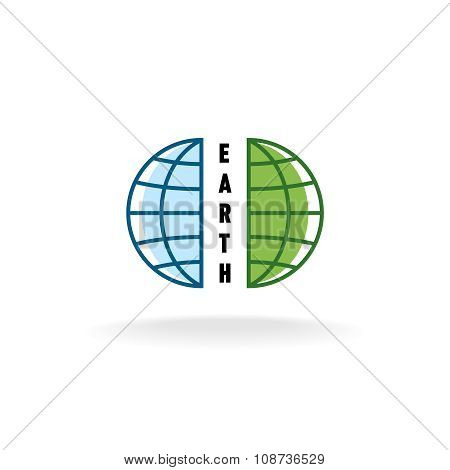 Earth Globe Logo