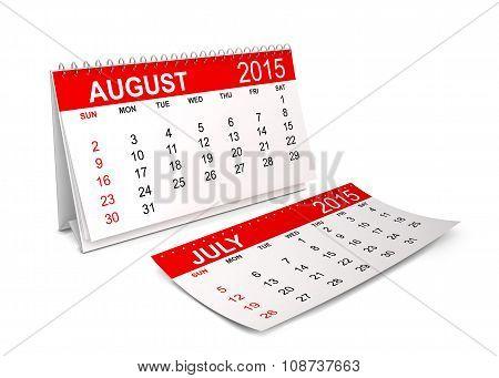 2015 Calendar. August