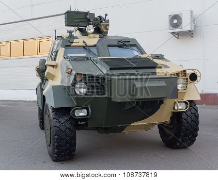 Kiev, Ukraine - September 22, 2015: Ukrainian-made armored car Dozor-B. Army and industry