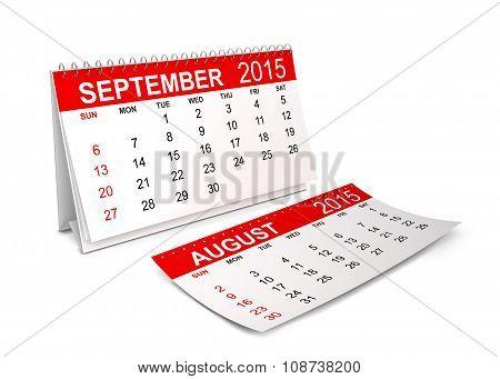 2015 Calendar. September