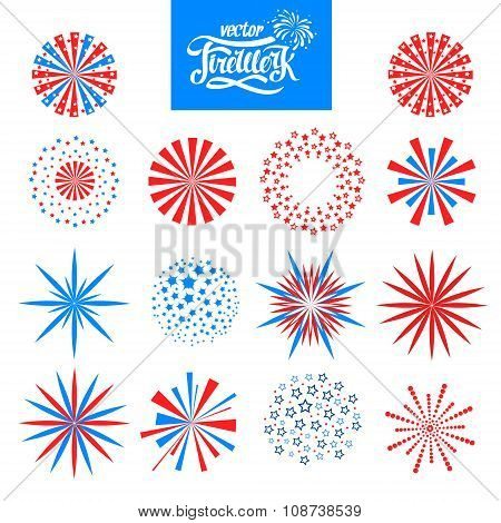 Set Of Vector Holiday Firework