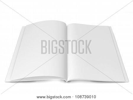 Open Magazine Or Brochure