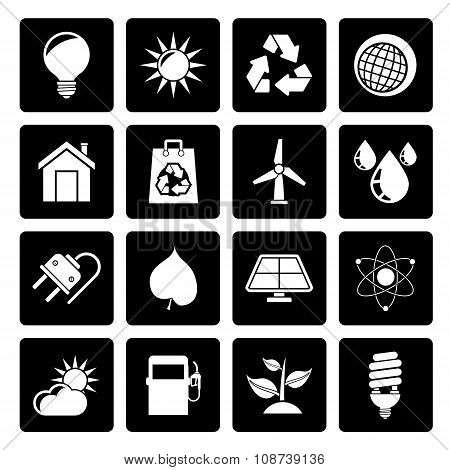 Black Ecology, nature and environment Icons