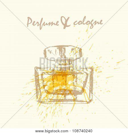 Vector Perfume Bottle Flyer