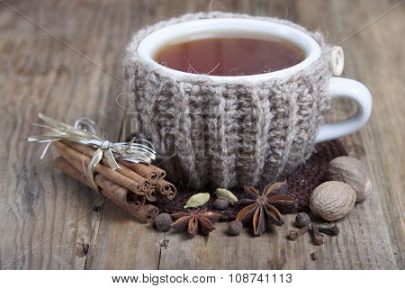 A Cup Of Hot Spiced Tea   And Spices  .