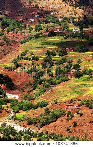 Moroccan village in Atlas Mountains, Africa