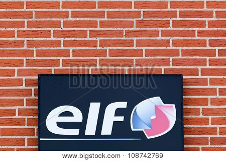 Elf logo on a wall