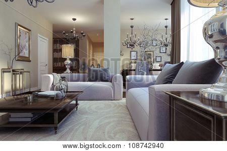 Luxury Living Room Avant-garde And Art Deco Style